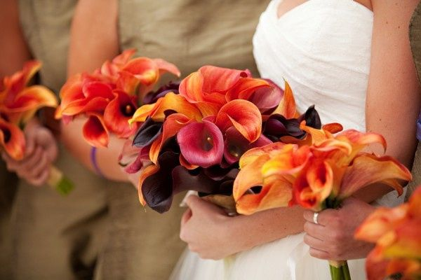 Mango miniature call lily bouquets
