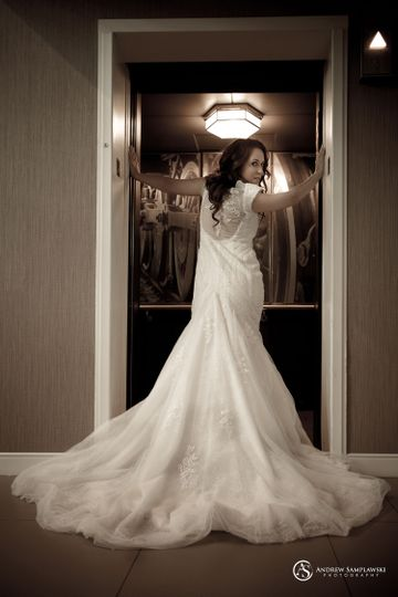 Last moment before the elevator doors close for the night... incredible bride with her gorgeous...