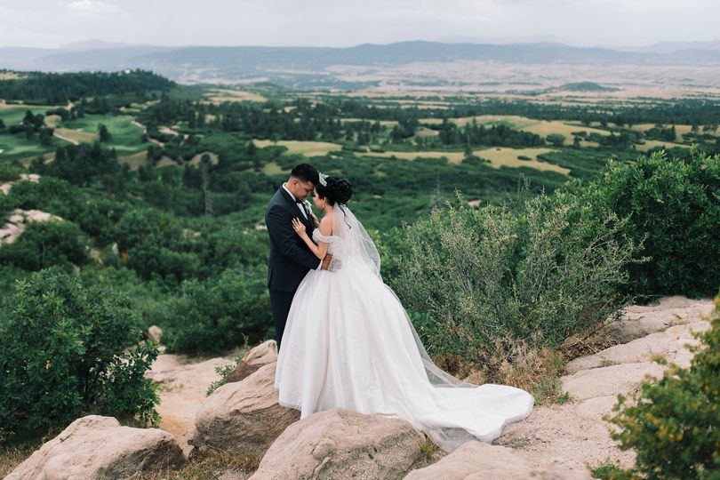 Newlyweds on the mountaintop