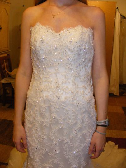Fit wedding gown