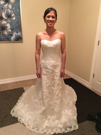 Before: Simple wedding gown
