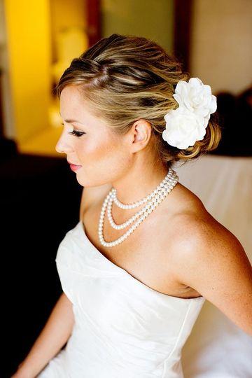 Bride's side profile