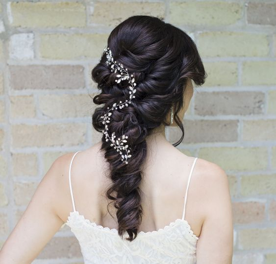 Messy braid with beautiful hair ornament