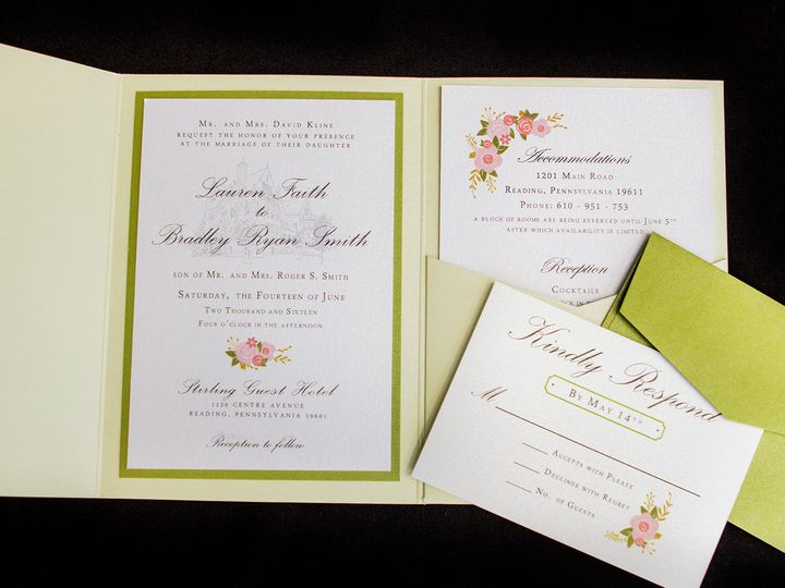 Tmx 1414082151065 Green Pocket Reading wedding invitation