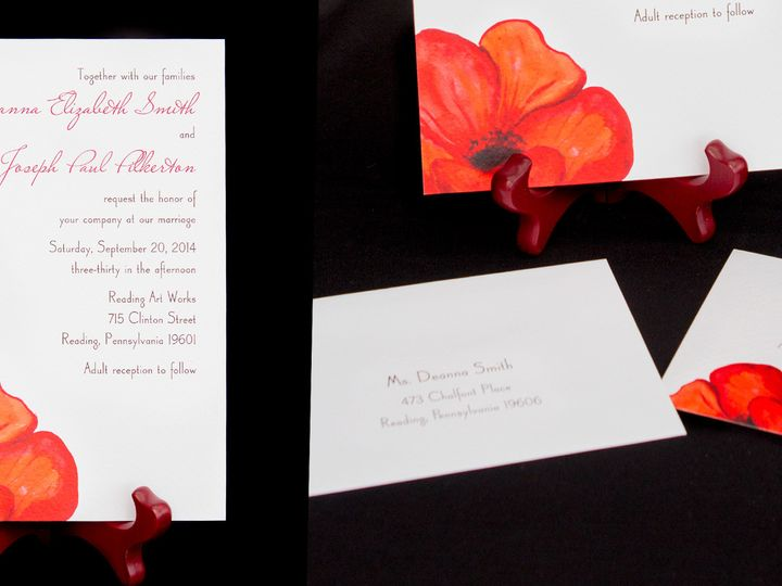 Tmx 1414082160370 Poppies2 Reading wedding invitation