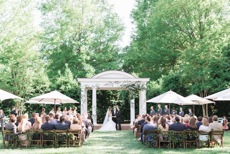 Ceremony on the McGuire Lawn