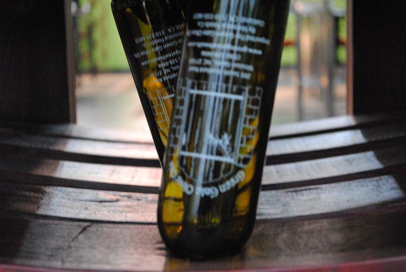 close up of bottles