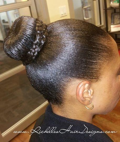 Classic bun updo