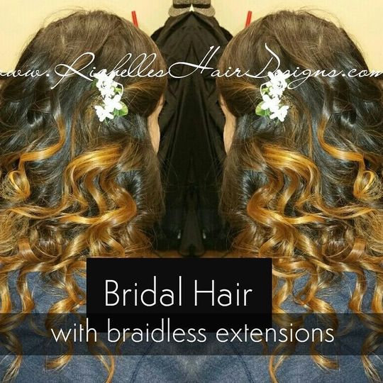 Bridal hair with extensions
