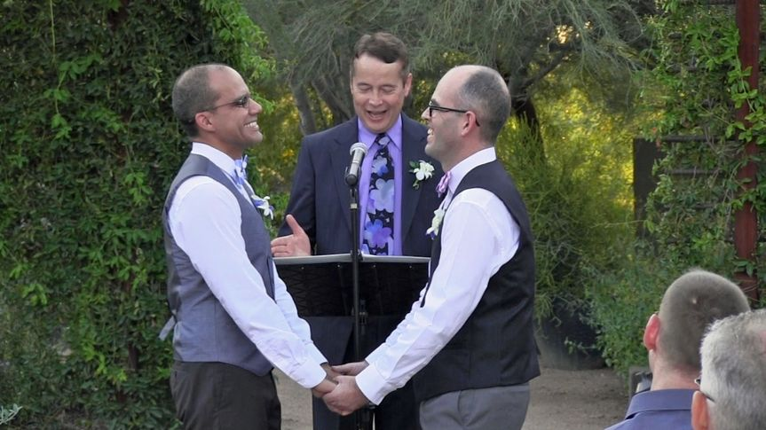 Officiating a same-sex wedding