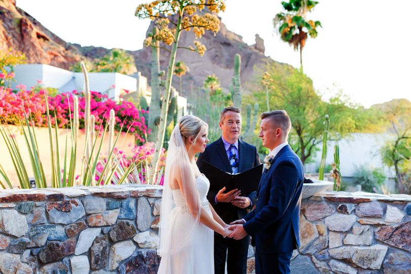 Officiating an outdoor wedding