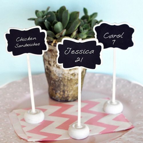 Chalkboard Place Card Stands/Holders ($0.74)