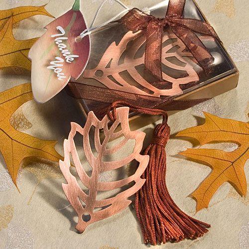 Fall Copper Leaf Bookmark Wedding Favors ($0.76)