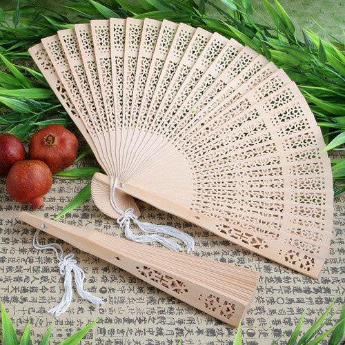 Wooden Sandalwood Hand Fan Wedding Favors ($0.52)