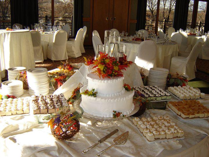 Tmx 1392218630503 Fall Cake And Cheesecake Bite Galena, IL wedding cake