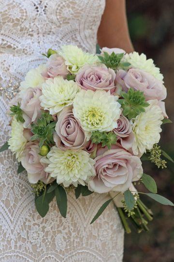 Roses, dahlias, succulents