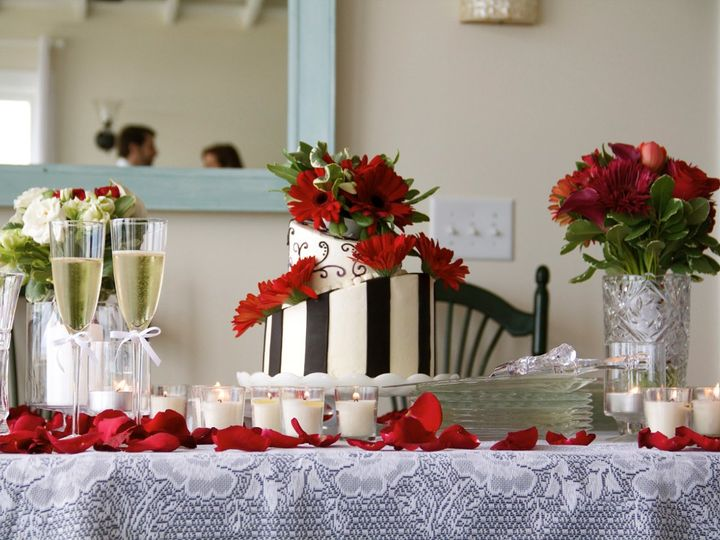 Tmx 1343006884014 Andreaanddillionsweddingcakewithflowers2 Greensboro, NC wedding cake