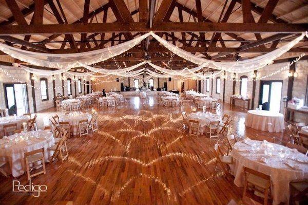 Wedding reception setup