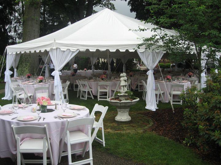 Open tent setup