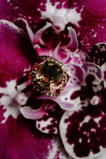 Ring on orchids