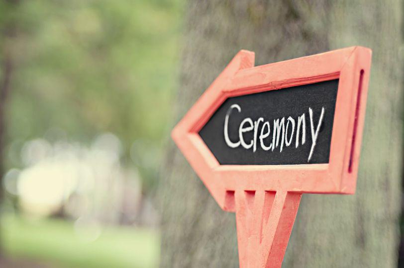 The wedding signage