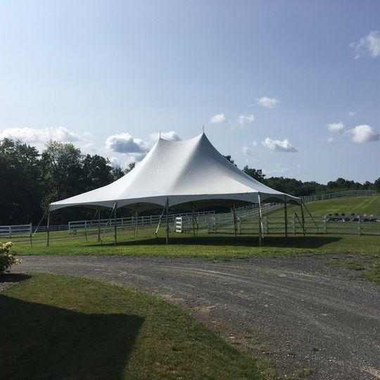 30x40 high peak clearspan frame tent