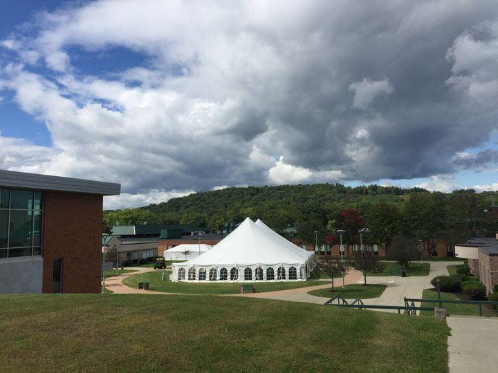 60x100 pole tent at columbia Greene community college