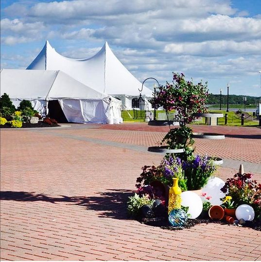 CMH Hospital ball 100x90 high peak pole tent with over 9,000 square feet of tent!