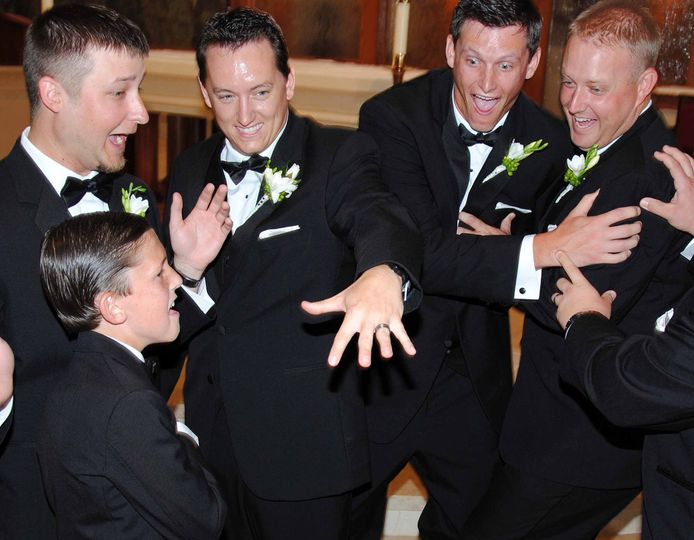 Fun with the groomsmen
