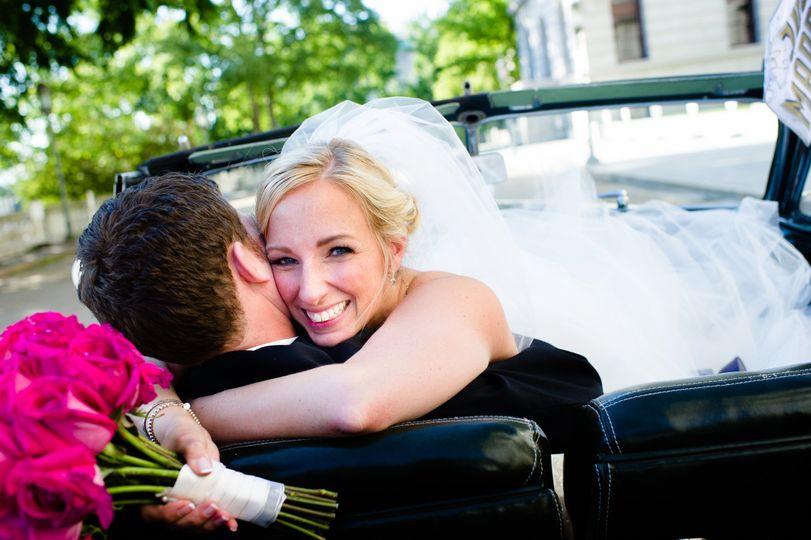 Joyful wedding day