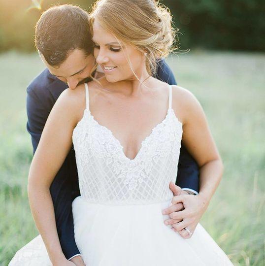 Romantic newlyweds