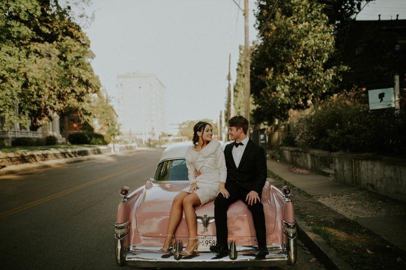 Sweet newlyweds shot