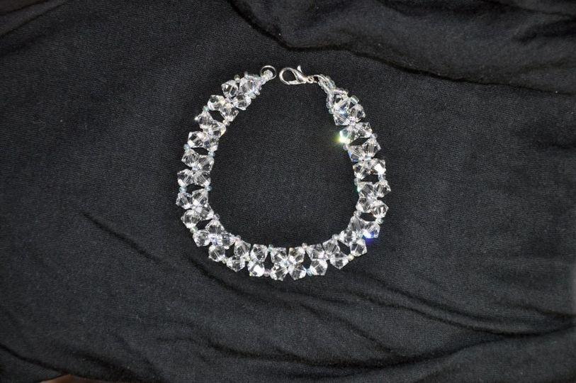 crystal bead weave bracelet 1