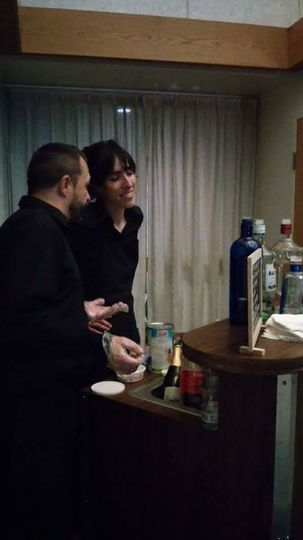 Our bartenders setting up