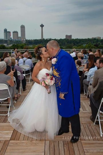 Beautiful Rooftop Ceremony