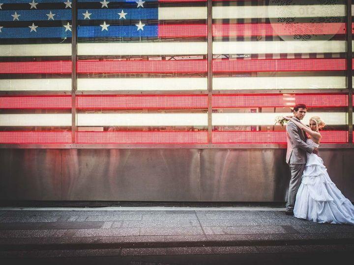 frerk hopf photography wedding us flag times squar
