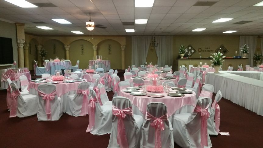 All Occasions pink and white theme