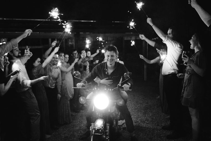 A Fun Motorcycle Sparkler Exit