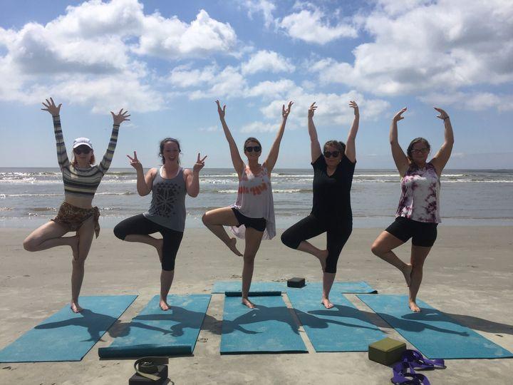 Yoga On The Beach Isle Of Palms Sc