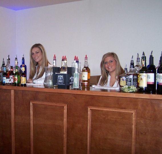 Client Wedding Bar Setup