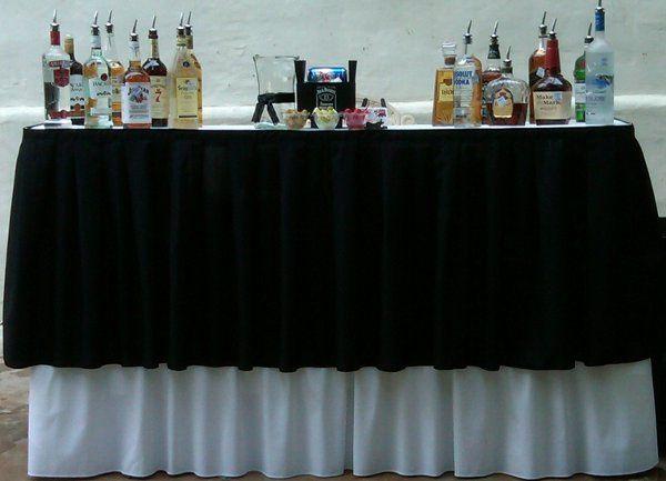 Formal Fashion Show Bar Setup
