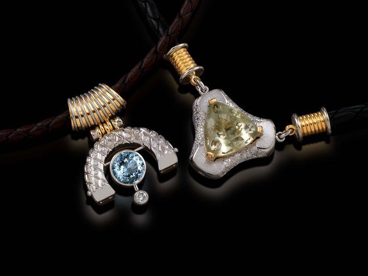 Tmx 1398978205247 Blue Topas And Citrine Neclaces West Hartford wedding jewelry