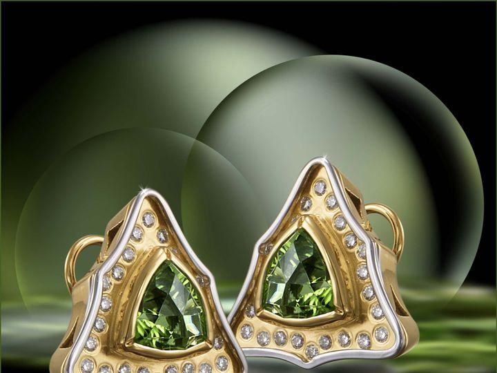 Tmx 1398978450179 Earrings.18 K Tt Gold. Starburst Peridots Diam West Hartford wedding jewelry