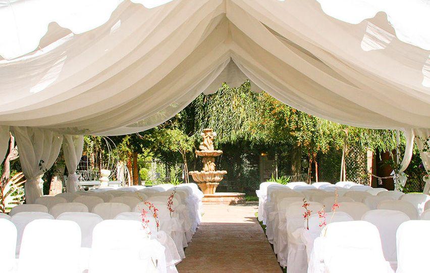 Pavilion tent ceremony area