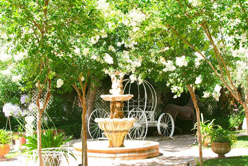 Water fountain and carriage