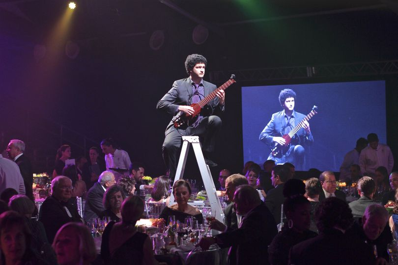 Youngarts Gala - performing on a Ladder