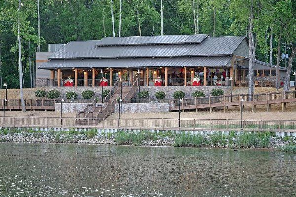 The Pavilion has great outdoor space - a fully covered deck plus an outdoor patio with fountains.
