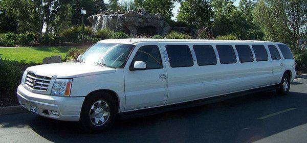 22 Passenger Cadillac Escalade SUV White Wedding Limo