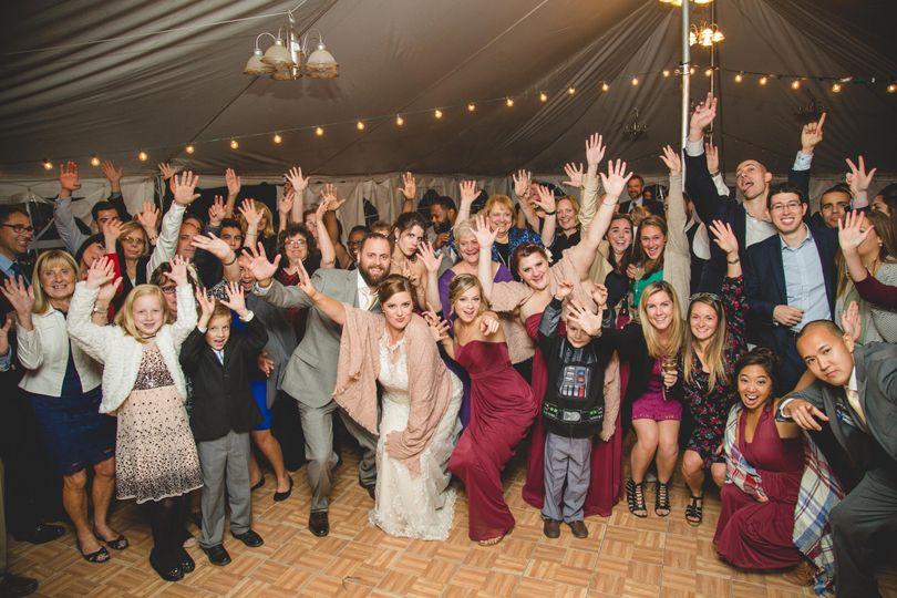 Wedding crowd