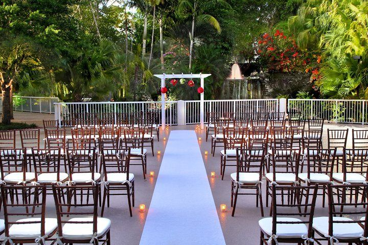 Ceremony setup outdoors